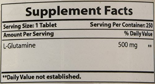 Best Naturals L Glutamine 500 mg 250 Tablets