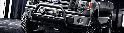 HS Power Matte BLK Bull BAR Brush Push Bumper Grill Guard+Chrome Skid 11-14 for Ford Explorer