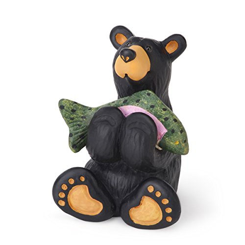 Big Sky Carvers Tiny Cub with Fish Figurine, Mini ()