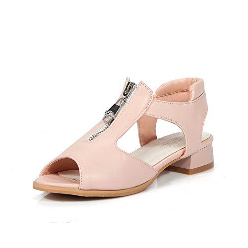 Urethane DIU00858 Womens Light Sandals Weight Zipper Pink AN Fashion FpqHXx