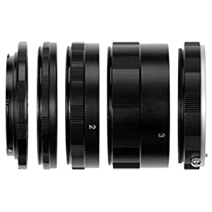 Bolo Canon EOS Macro Extension Tube Set Kit for Extreme Close-up, fits Canon EOS 1d,1ds,Mark II, III, IV, 5D, Mark II, 7D, 10D, 20D, 30D, 40D, 50D, 60D, Digital Rebel xt, xti, xs, xsi, t1i, t2i, 300D, 350D, 400D, 450D, 500D, 550D, 1000D with FREE MICRO CLEANING CLOTH