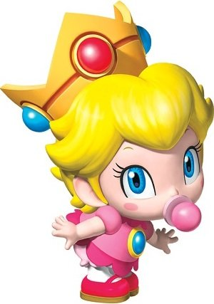 3 Inch Baby Princess Peach Super Mario Bros Brothers Removable Wall Decal Sticker Art Nintendo 64 SNES Home Kids Room Decor Decoration - 2 by 3 -