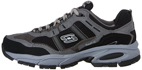 Skechers Sport Men's Vigor 2.0 Trait Memory Foam Sneaker, Charcoal/Black, 7 M US by Skechers (Image #5)