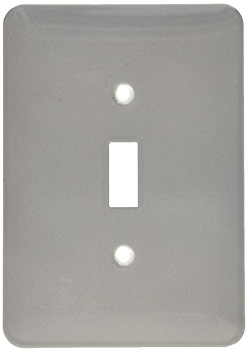 3dRose lsp_159862_1 Dark Grey Charcoal Steel Gray Plain Simple One Single Solid Color Modern Contemporary Light Switch Cover