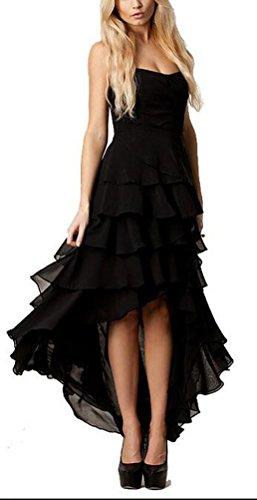 SunIfSnow - Camisón - plisado - Básico - Sin mangas - para mujer negro