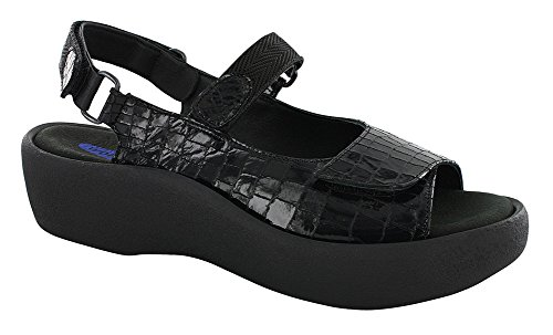 Croco Wolky Black Jewel Sandals Womens Leather 41Xqv4