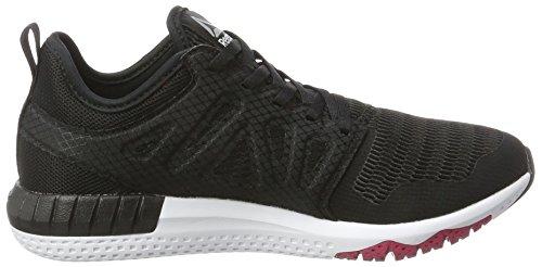 Reebok Zprint 3D, Chaussures de Running Femme Noir (Black/Coal/Pink Craze/Pewter/White)