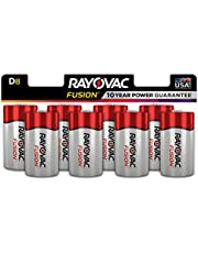 Rayovac Fusion Long-lasting Alkaline Batteries (D, 8 pk) 1 count