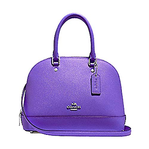 Coach Womens Mini Sierra Satchel Handbag (Violet)