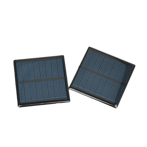 AOSHIKE 5Pcs 4V 90mA Micro Solar Panel DIY Photovoltaic Solar Cell Car Charger Lamp Light Sun Power Sunpower Solar Charger 63x63mm(F) by AOSHIKE (Image #6)