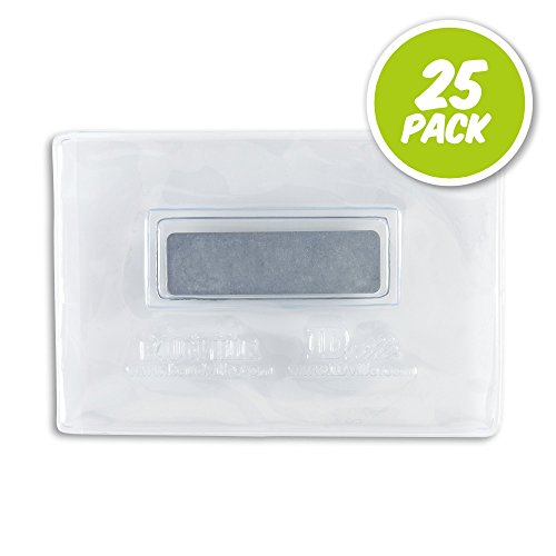 (Clear Vinyl Veritcal or Horizontal Magnetic Badge Holder - Credit Card Sized (3 x 2) - 25 Pack)