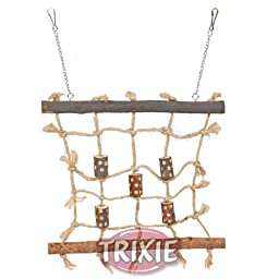 Trixie Wooden & Rope Climbing Scaffold Bird Toy 5893