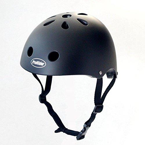 ProRider BMX Bike & Skate Helmet - 3 Sizes Available: Kids, Youth, Adult (Matte Black, (Classic Skate Helmet Matte)