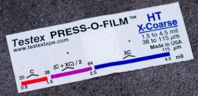4.6-5 mils Testex Press-O-Film X-Coarse Plus Grade Replica Tape Roll