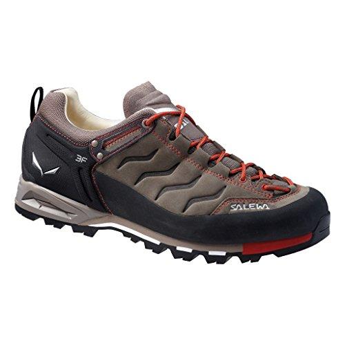 Salewa Men's Mountain Trainer Leather Approach Shoe, Bungee Cord/Firebrick, 10.5 (Mountain Approach Shoe)