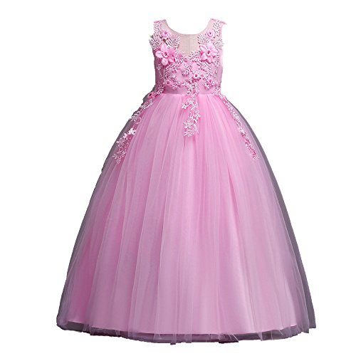 Lurryly Flower Girls Princess Pageant Tutu Tulle Lace Party Wedding Dress 4-13 T from Lurryly
