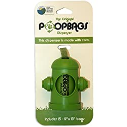 PoopBags The Original HYD007 Poop Bags Dog Waste Bag Dispenser, Green