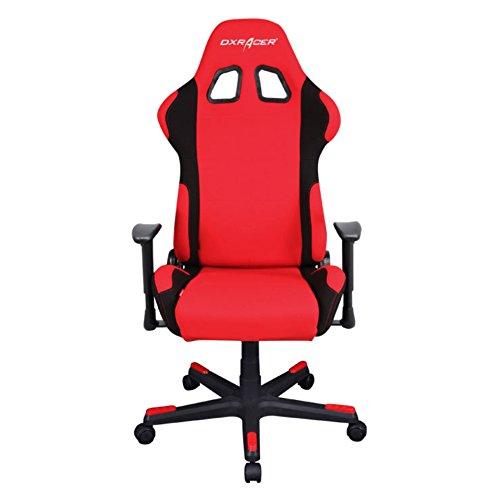 DXRacer Formula Series DOH/FD01/RN Office Chair Gaming Chair Ergonomic Computer Chair eSports Desk Chair Executive Chair Furniture Free Cushions (RED/BLACK)