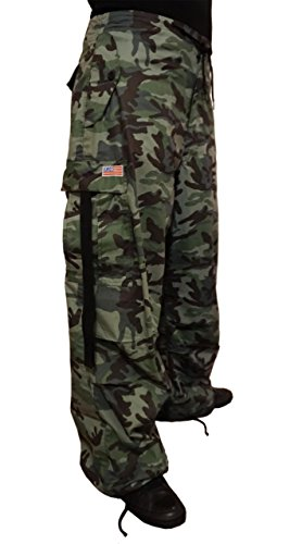 (UFO's Classic Camo Wind Pant, Green Grey (Large) )