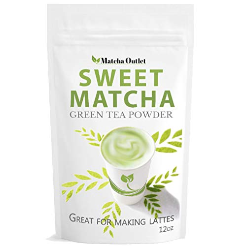 Sweet Matcha Green Tea Powder from Japan (12oz/340g) Latte Grade; Delicious Energy Drink - Shake, Latte, Frappe, Smoothie. Made with USDA Organic Matcha - Matcha Outlet