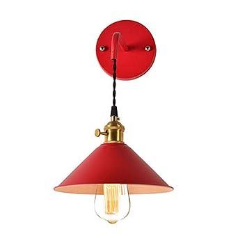 Langny CouleurRouge De Éclairage Fer Moderne Lampe Murale Forgé AjLq54R3