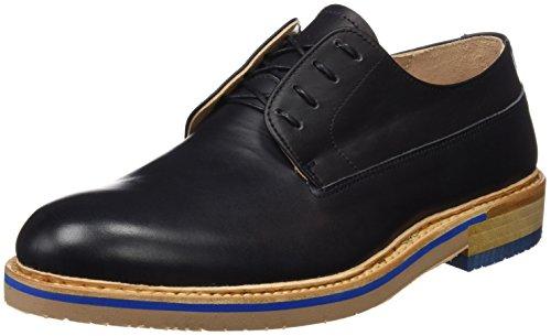 Neosens S090 Restored Skin Ebony Aris, Zapatos de Cordones Derby para Hombre Negro (Ebony)