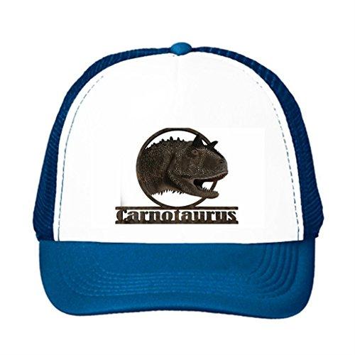 Candow Snapbacks Hat Jurassic Theropod Carnotaurus Cute Trucker Hats Blue