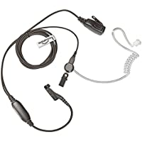 Covert Acoustic Tube Earpiece for Motorola MotoTRBO Radio: XPR-6350, XPR-6500, XPR-6550, XPR-4500, XPR-4550, XPR-6300, DGP™ 4150, DGP™ 4150+,DGP™ 6150, DGP™ 6150+, XiR-P8200, XiR-P8208, XiR-P8260, XiR-P8268