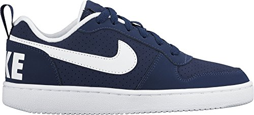 Nike Court Borough Low (Gs), Zapatillas de Baloncesto para Niños Azul (Midnight Navy / White)