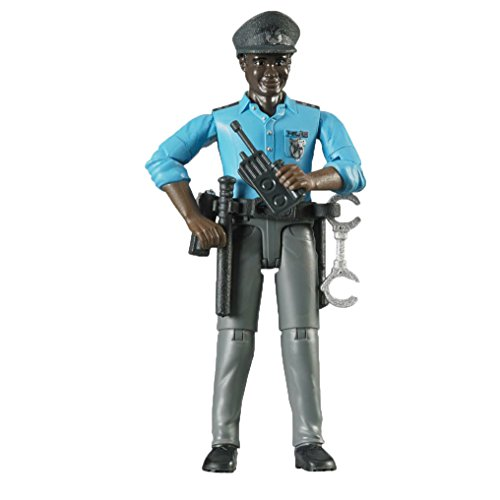 Bruder Policeman Dark Skin Toy Figure with (Policeman Accessories)