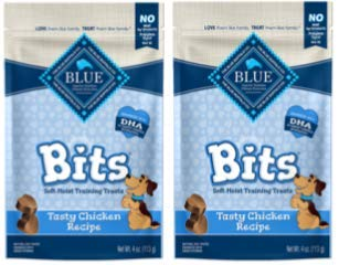 Blue Buffalo Chicken Bits Dog Treats, 8-Ounce (Blue Bits Tender Beef Recipe)