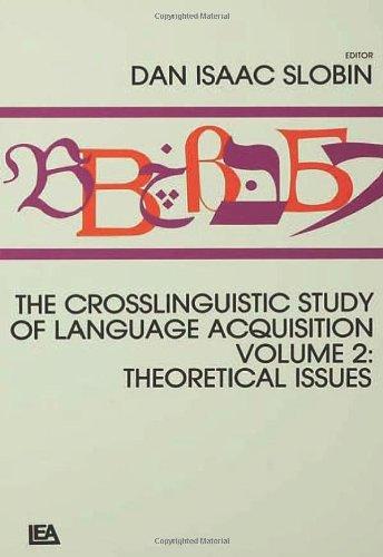The Crosslinguistic Study of Language Acquisition (2 Volume Set)