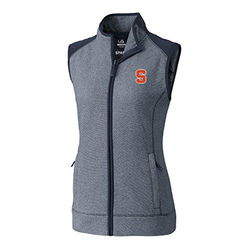 Cutter & Buck NCAA Syracuse Orange Adult Women Cedar Park Full Zip Vest, XX-Large, Liberty Navy Heather