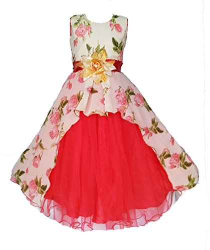 My Lil Princess Baby Girls Birthday Party wear Frock Dress_Cutee Pastel_Georgette Fabric_3-9 Years