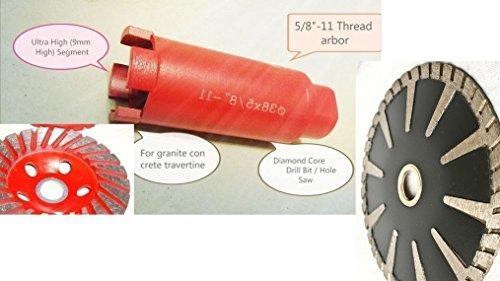 1-3/8 Inch Diamond Granite/Concrete Core Drill Bit Hole S...