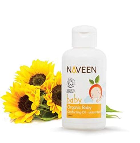 NAVEEN Organic Baby Comforting Oil 100ml-Perfect for Sensitive Little noses, and Ideal for Massage, Nappy Rush, Cradle Cap or Dry Skin by NAVEEN