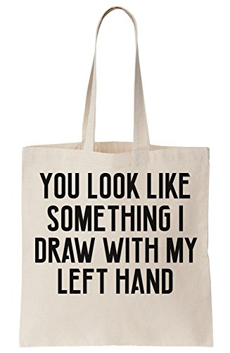 I Bag Fail You Something Hand My Look Oops A Left Like That's Draw Canvas With Tote ZxatH