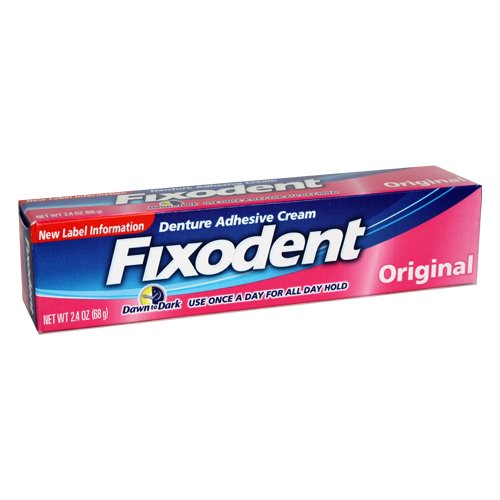 Fixodent Denture Adhesive Cream, Food Seal, 2-Ounce Boxes (Pack of 3)