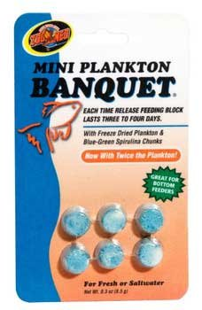 Zoo Med Laboratories Aquatrol Plankton Banquet Block Feeder Mini 6 Count - Phosphate Mini Lab