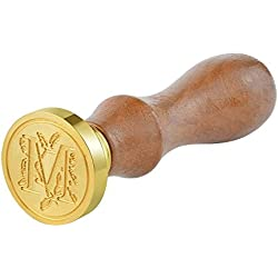 Vintage Retro Wooden Alphabet Letter Initial Wax Classic Sealing Wax Seal Stamp(M)