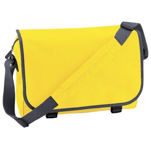 Bagbase - Bolso bandolera ajustable (11 litros) Amarillo/gris