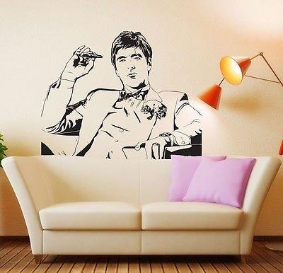 Tony Montana Scarface Movie Wall Decal Sticker Room Decor Vi
