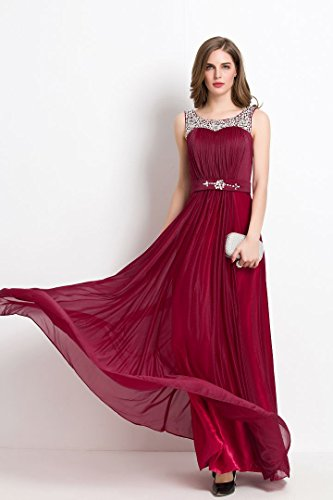 Trägern Speghetti Rot mit Emily Beeds Beauty lang Abendkleid XPq7xCw
