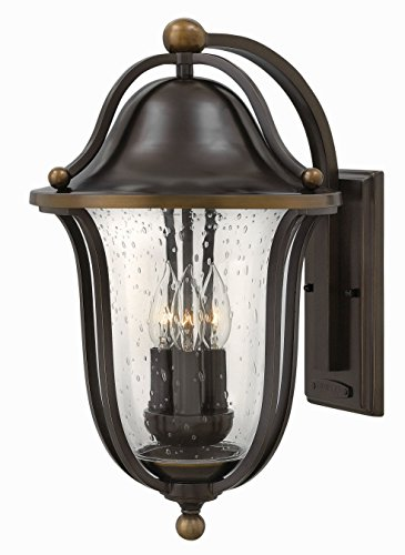 - Hinkley 2645OB Bolla - Three Light Outdoor Wall Lantern, Olde Bronze Finish with Clear Seedy Glass