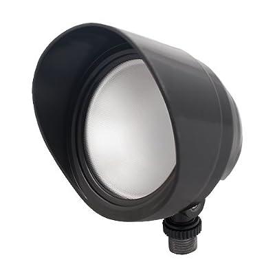 RAB Lighting BULLLET12NA LED Floodlight, 12W, 120V, 4000K, Bronze