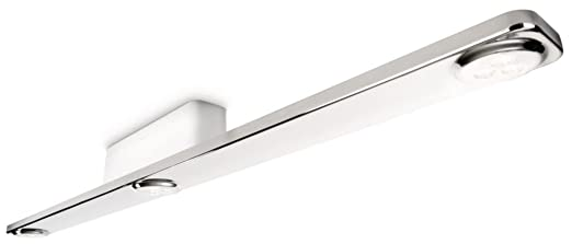 philips instyle vanitas bathroom ceiling light chrome integrated 3 x 6 watts led bulb