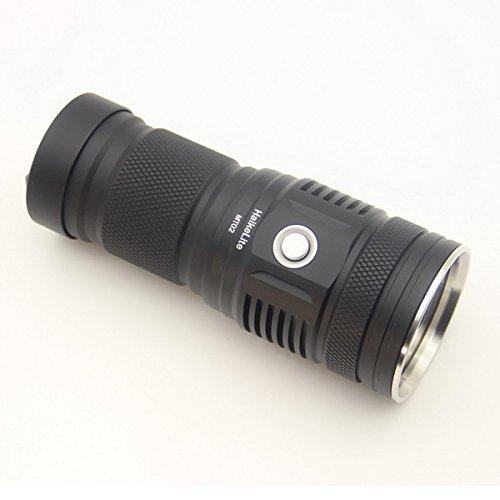 MT02 XHP35 HD CW 2500LM Thrower EDC LED Flashlight (Color Silver) by LEEPRA (Image #2)