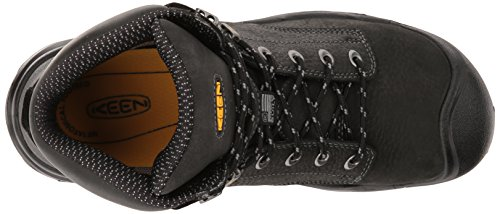 Keen Utility Mens MT. Vernon Mid Industrial and Construction Shoe, Black, 7.5 D US