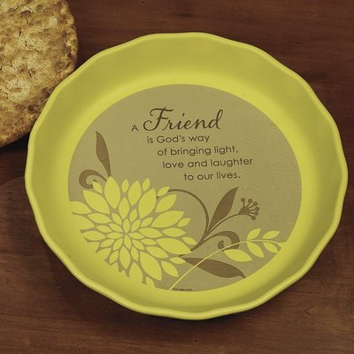 Abbey Press Friend Pie Plate - Inspiration Faith Blessing Spirit 56225T-ABBEY by Abbey Press by Abbey Press