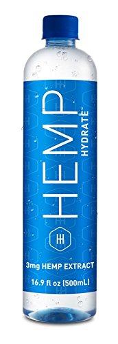 (HEMP Hydrate 3 MG HEMP Extract Infused Water | Purified pH Balanced Reverse Osmosis Bottled Drinking Water | No Added Sodium, Chlorine, Fluorine, 16.9 fl oz/500 ml Hemp Hydrate)